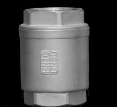 КЛАПАН ОБРАТНЫЙ РЕЗЬБОВОЙ ИЗ НЕРЖАВЕЮЩЕЙ СТАЛИ (AISI 304, метал-метал) тип VCT